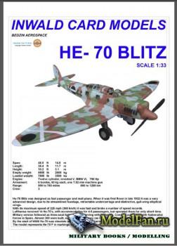 Inwald Card Models - Heinkel He-70 Blitz