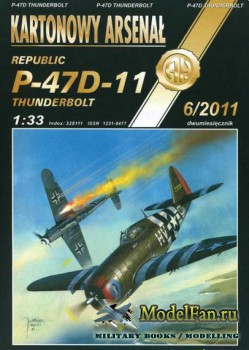Halinski - Kartonowy Arsenal 6/2011 - Republic P-47D-11 Thunderbolt