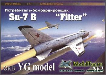YG Model 02 - Истребитель-бомбардировщик Су-7Б /Su-7B Fitter