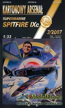 Halinski - Kartonowy Arsenal 3/2007 - Spitfire Mk.IXc, Wg Cdr «Johnnie» Joh ...