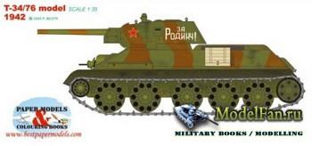 Bestpapermodels - T-34-76-model-1942