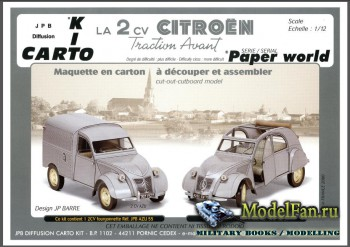 JPB Diffusion Carto Kit - Citroen 2CV 1955