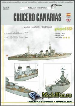 Papel 3D - Crucero Canarias