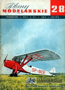 Plany Modelarskie №28 (6/1968) - RWD-8 i 10, SZD-15 Sroka