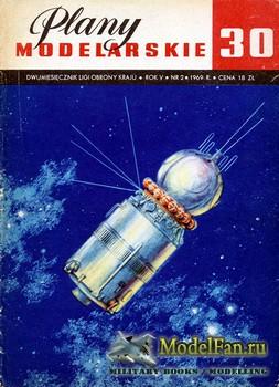 Plany Modelarskie №30 (2/1969) - Rakieta nosna, statki i probniki kosmiczne