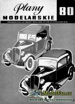 Plany Modelarskie №80 (4/1977) - FIAT-508