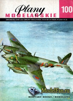 Plany Modelarskie №100 (6/1980) - De Havilland DH 98 Mosquito