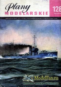 Plany Modelarskie №128 (6/1985) - ORP Kujawiak. Frigate Sagittario