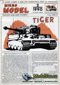 Mikro Model 2/1990 - Pz.Kpfw. VI Tiger Ausf. E