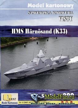 Quest - Model Kartonowy №25 - Корвет типа «Висбю» HMS Harnosand K33 (Вектор ...