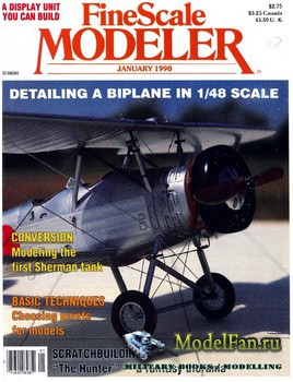 FineScale Modeler Vol.8 №1 (January) 1990