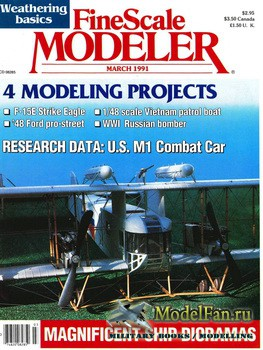 FineScale Modeler Vol.9 №3 (March) 1991