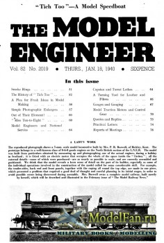 Model Engineer Vol.82 No.2019 (18 January 1940)