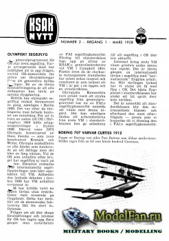ModellFlygNytt №2 (March 1958)