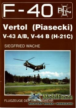 F-40 «Flugzeuge Der Bundeswehr» Nr.11 (02.1990) - Vertol (Piasecki) V-43A/B ...