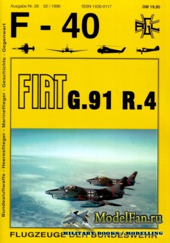 F-40 «Flugzeuge Der Bundeswehr» Nr.26 (02.1996) - Fiat G.91 R.4