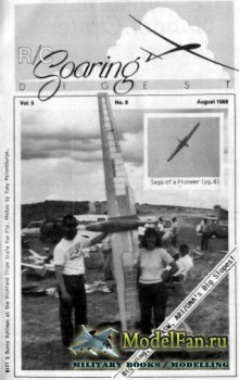 Radio Controlled Soaring Digest Vol.5 No.8 (August 1988)
