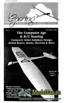 Radio Controlled Soaring Digest Vol.6 No.11 (November 1989)