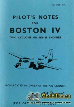 Pilot's Notes for Boston IV: Two Cyclone Gr. 2600-23 Engines