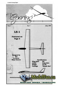 Radio Controlled Soaring Digest Vol.7 No.7 (July 1990)
