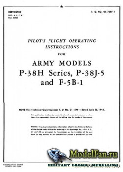 Pilot's Flight Operating Instructions for Army Models P-38H Series, P-38J-5 and F-5B-1