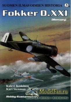 Suomen Ilmavoimien Historia №3A - Fokker D.XXI (Mercury)