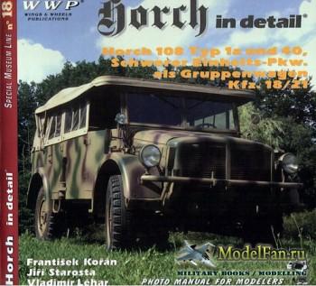 WWP Special Museum Line №18 - Horch in Detail: Horch 108 Typ 1a und 40, Sch ...