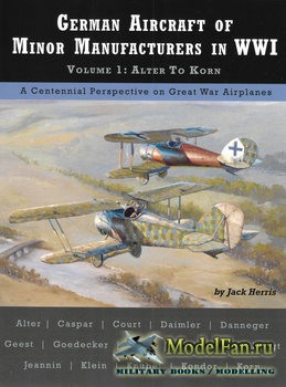 German Aircraft of Minor Manufacturers in WWI. Volume 1: Alter to Korn (Jack Herris)